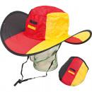 grossiste Gadgets et souvenirs: chapeau Fan  Allemagne pliable de polyester