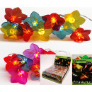 Großhandel Lichterketten: LED Lichterkette  10 Blumen in PVC Box, 2-fach sort