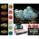 Großhandel Lichterketten: LED Lichterkette  Metallkugeln 6 Farben sortiert
