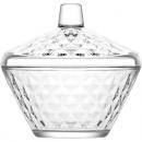 Großhandel Haushalt & Küche: Glas Schale mit Deckel 330ml
