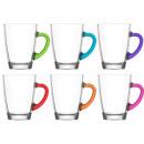 Set di manici in vetro con 6 colori da 300 ml