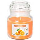 Świeca zapachowa w szkle z pokrywką pomarańczową 7