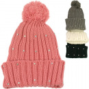 wholesale Fashion & Apparel: Winter Women's  Knit Hat with Rhinestones