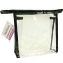 mayorista Maletas y articulos de viaje: bolso cosmético  18x18x5,5cm transparente