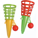wholesale Toys: Catch ball game  18.5cm + ball 2 colors