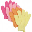 Washing Glove Massage 2 pastel colors 17x12cm