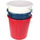 Emmer 10 liter met metalen beugels voor huishoudel