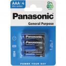 groothandel Batterijen & accu's: Batterij Panasonic AAA 4 Pack