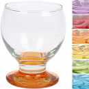 wholesale Drinking Glasses: Glass Coral Shot  Glass 0.1L colored 6-way bottom