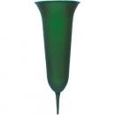 Großhandel Blumentöpfe & Vasen: Grabvase 31x12cm  aus Kunststoff, Farbe Grün