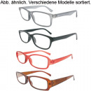 wholesale Glasses: Reading glasses  Fashion 8fach black, brown, purple