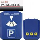 Auto Parkscheibe  15x12cm, mit 4 Sprachen, 3Kanten