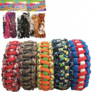 Paracord 2 pieces  2,5m + 2 clips assorted colors