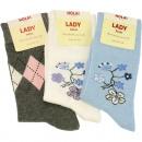 Großhandel Strümpfe & Socken: Socken Damen 1  Paar Baumwolle 35/38 39/42 sortiert