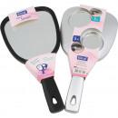 groothandel Badmeubilair & accessoires: Mirror Hand Elina  XL 26x13x1,5cm 2-zijdig