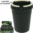 Großhandel Aschenbecher: Aschenbecher Wind  11x8cm schwarz aus Kusto
