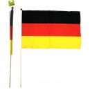 grossiste Gadgets et souvenirs: Rod drapeau  30x45cm Allemagne avec tige de 60 cm