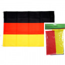grossiste Gadgets et souvenirs: Drapeau Fan  Allemagne 60x90cm avec 2 métal