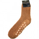 Großhandel Strümpfe & Socken: Socken  Kuschelsocken ABS beige Größe 39-43