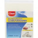 groothandel Reinigingsproducten: Wonder spons CLEAN  2er 14x6x3cm Schmutzradier.
