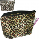 Cosmetic bag  18x16,5x4cm  Tigerlook 2 fold ...