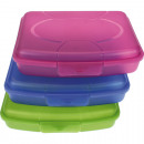 wholesale Houshold & Kitchen: Frosty Lunchbox 17  x 13 x 4cm colored assorted