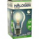 Halogen lamp 42W power, 55W dimmable light E27