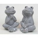 Großhandel Figuren & Skulpturen: Frosch in lustiger  Pose 9,5x7x7cm, 2 Posen sortier