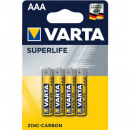 grossiste Batteries et piles: Batterie Varta Superlife AAA 4p