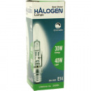 Halogen candle 30W power, 40W dimmable light E14