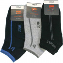 wholesale Fashion & Apparel: Socks Sneaker Men 1 pair with top motif