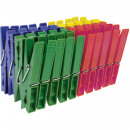 wholesale Laundry: clothespin 40s colored assorted on card 7x1c