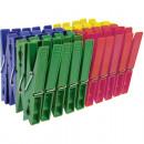 grossiste Soin de Linge: pince à linge 40  couleur assorti Carte 7x1c