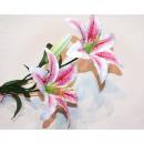 grossiste Fleurs artificielles: Tiger Lily Flower  LUXURY XL 72cm avec 2 grandes fl