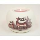Teelichthalter XL 9x6cm met elanden en boom