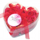 Flower rose soap red, set of 9, ca. 10cm,
