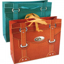 Großhandel Handtaschen: Geschenktasche  Ledertaschendesign XL 25x20x8cm