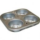 groothandel Bakken: Muffin bakvorm 4p  18x18x3cm van metaal,