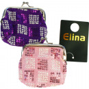 wholesale Bags & Travel accessories: Wallet Glamor, 2  times assorted with metal times a