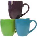 Porz.Kaffeebecher 10x8cm 3 class. Color sort, 300m