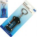 wholesale Food & Beverage: Corkscrew with  automatic lever on card 17cm