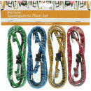 wholesale Garden & DIY store: Tensioning straps  4 pcs per 75cm 4 colors assorted
