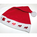 wholesale Fashion & Apparel: Santamütze with  light including battery 46x30cm,