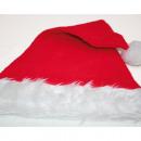 Großhandel Kopfbedeckung: Weihnachtsmütze  mit breitem Fellrand 46x30cm,