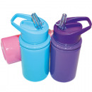 wholesale Lunchboxes & Water Bottles: Drinking bottle  with movable mouthpiece, 18x7cm,