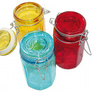 wholesale Drinking Glasses: Preserved glass XL  12x6,5x6,5 made of colored glas