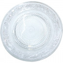 wholesale Crockery: Glass plate 22,5cm  with embossed structure