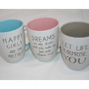 grossiste Tasses & Mugs: Tasse de café avec  de grandes dictons 320ml, sorte