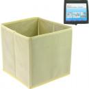 wholesale Organisers & Storage: Storage box  18x18x18cm black + beige sortie