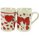 wholesale Houshold & Kitchen: Coffee cup LOVE  270ml, 10x7cm 2 beautiful motifs